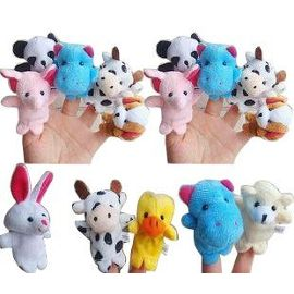 10 marionnettes animaux a doigts peluche 920720981 ml