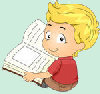 Illustration of a kid reading a book 82843071