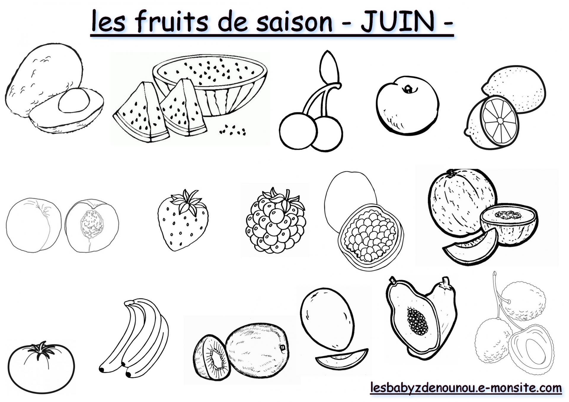 Les fruits juin